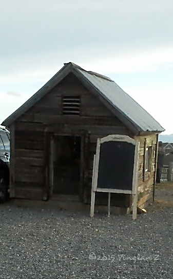 An actual outhouse (Not sure if it's broken)