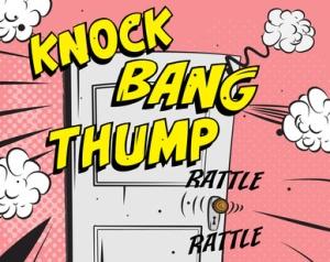 Comic book - door knocking