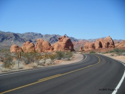 The Seven Sisters in Valley of Fire State Park outside Las Vegas