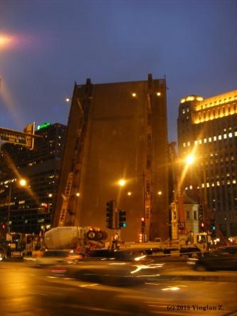 Night Traffic in Chicago