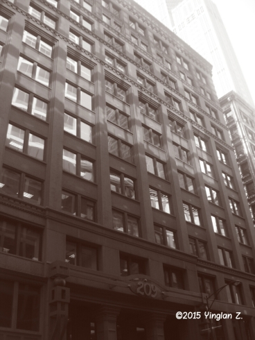 Random building in downtown Chicago