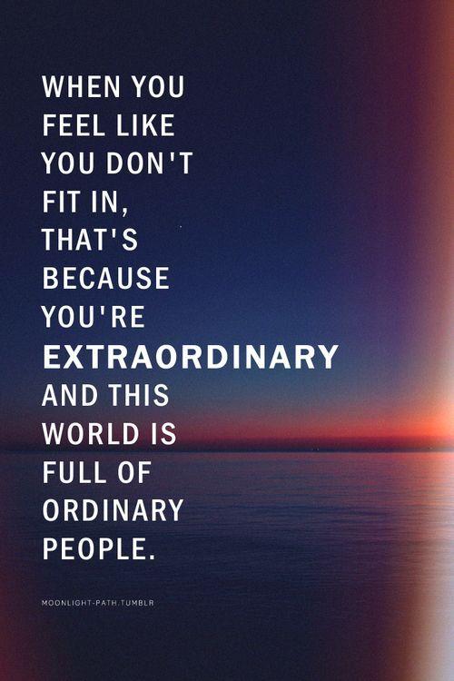 Extraordinary quote