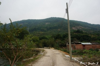 Walking along a path in rural China