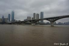 Bridge connecting Orange Isle to Changsha, China