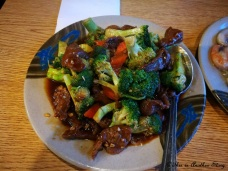Broccoli fried beef in West Yellowstone, MT