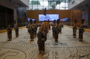 A model of a small army in a museum in Foshan, China
