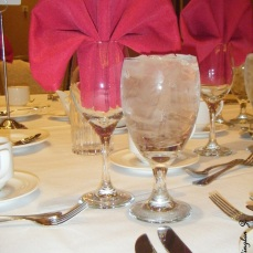 Glass at a Las Vegas banquet