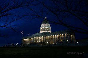 Utah State Capitol at night