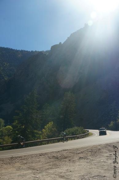 Driving Up Big Cottonwood Canyon