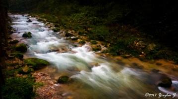 Water flowing downstream