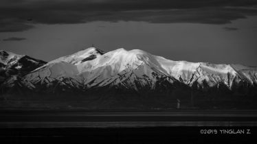 Snow-capped mountains in Black n' White